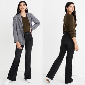 """Madewell 11"""" High-Rise Black Flare Jeans Size 30"""